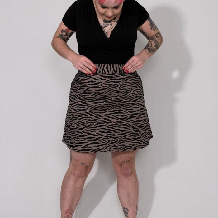 JEFF : jupe taille haute imprimé Zèbre