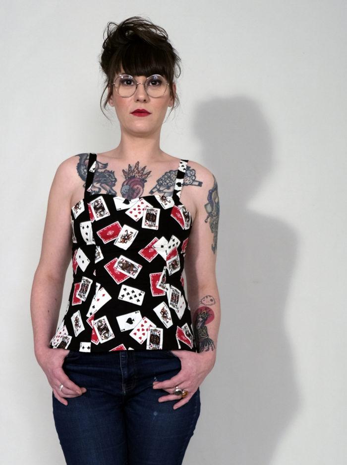 Labelalyce Betty jeuxdecarte pinup rock bustier createur lyon1
