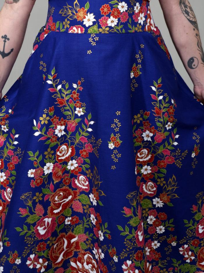 Labelalyce jupe charly taillehaute midi longueur mi longue taille haute pin up rock classe retro vintage penelopecruz poche créateur madeinlyon fabricationfrancaise rock 1