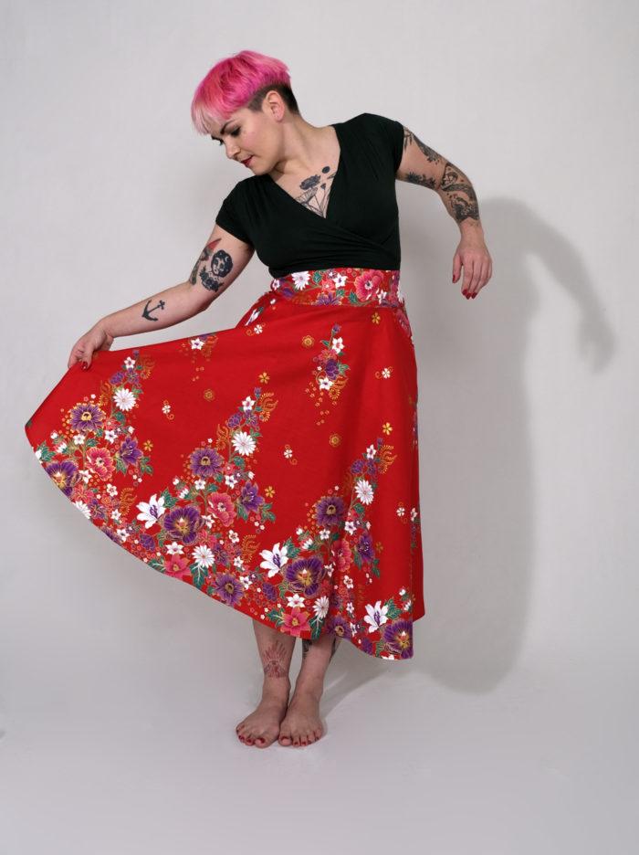 Labelalyce Charly thai fleurs rouge rock chic bohème printemps vole