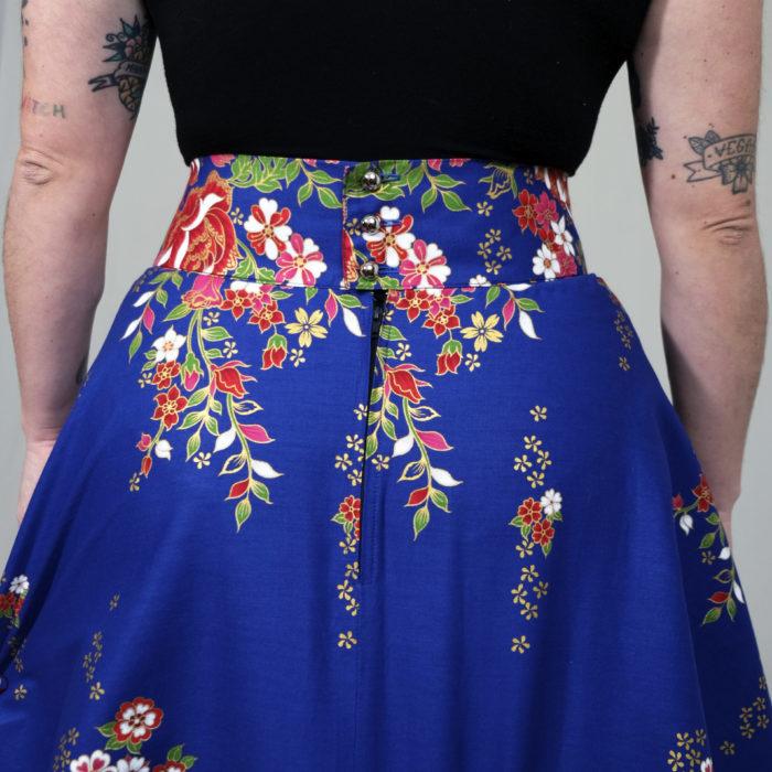 FONZY : bleu électrique à fleurs 100% coton