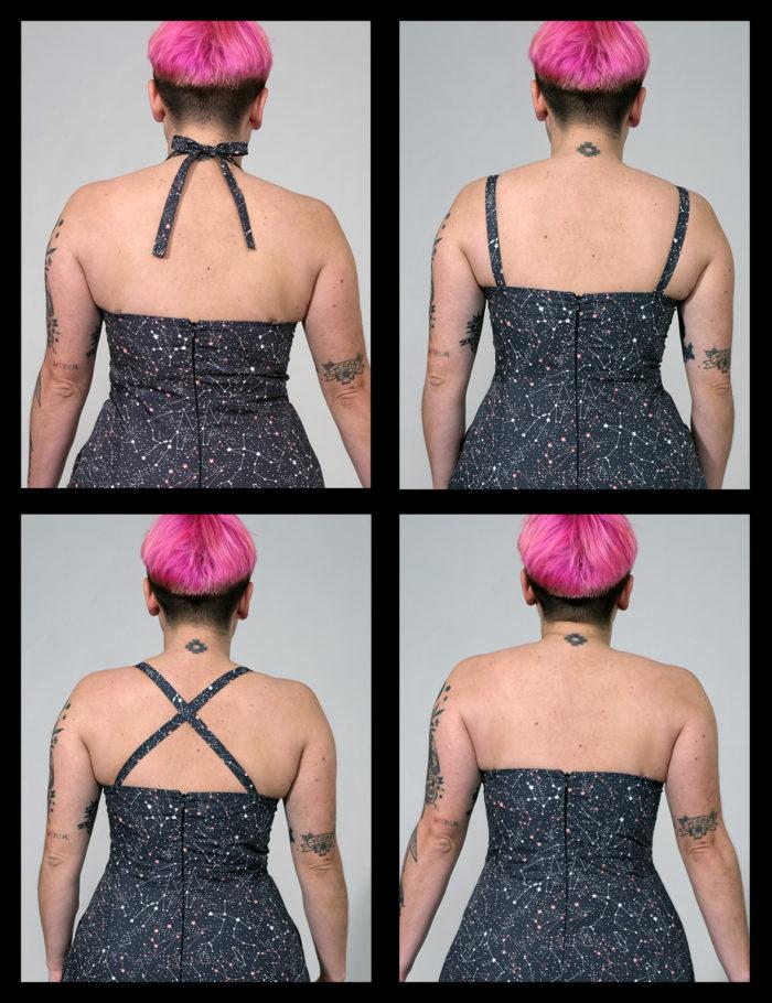 Labelalyce robe johnny noir étoiles blanches profil