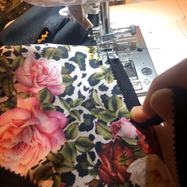 orso rosso atelier tissu oeko tex rose vintage