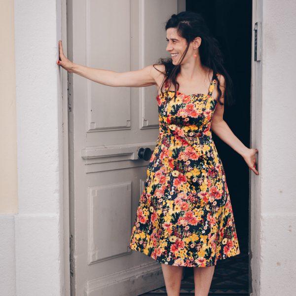 Labelalyce robe Johnny fleurs retro vintage